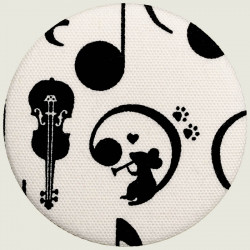 Musical mouse pocket mirror