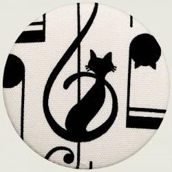 Musical cat pocket mirror