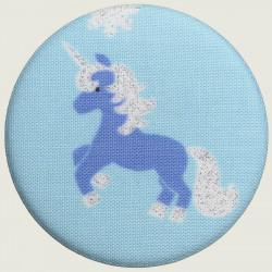 Unicorn pocket mirror blue