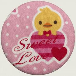 Little chicken fabric magnet