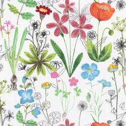 Wilde bloemen stof