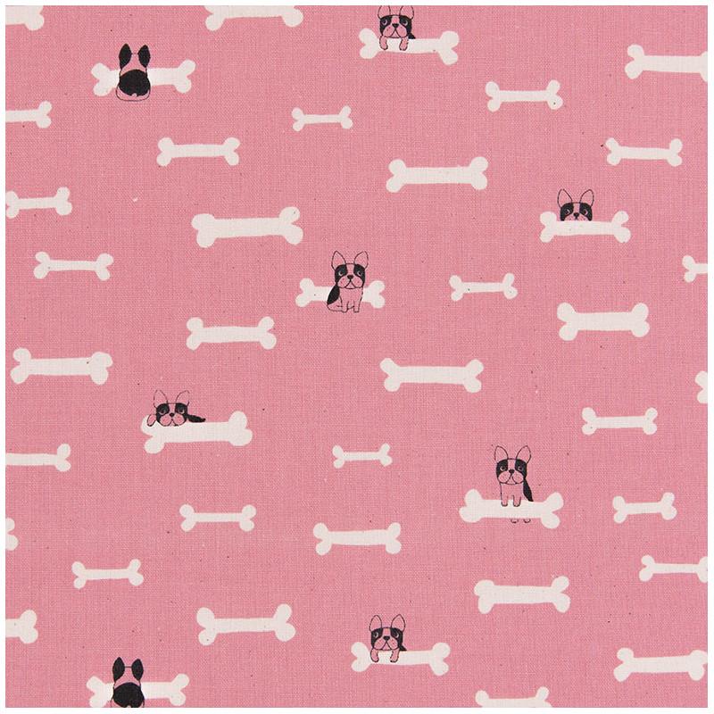 Dog and bone fabric (canvas)