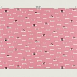Dog and bone fabric (canvas), half width