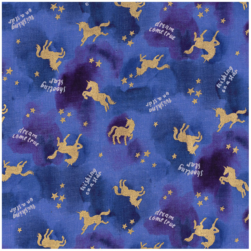 Golden unicorn fabric. A Japanese fabric by Kokka