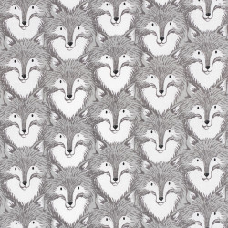 Gray Fox Fabric, made in Japan for Cotton+Steel
