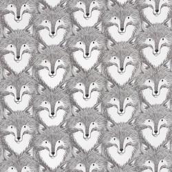 Grijze vossen stof, Geproduceerd in Japan door Cotton+Steel