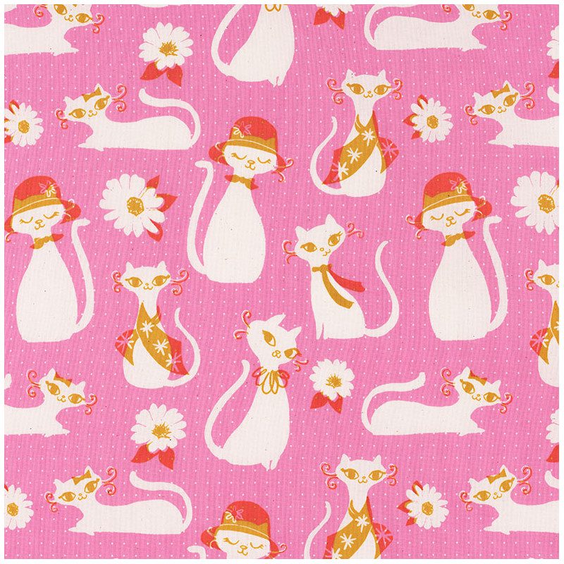 Fancy Cats Fabric by Cotton+Steel