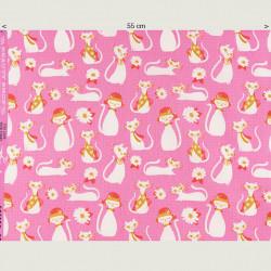 Fancy Cats Fabric, half width