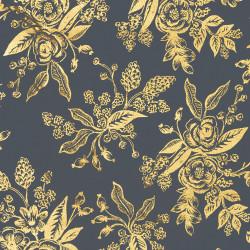 English Garden Fabric Navy, detail