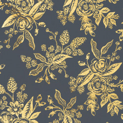 English garden stof navy, detail