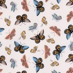 Vlinder stof Monarch beige van Cotton+Steel
