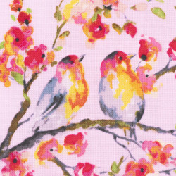Sweet Melody bird fabric, detail