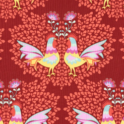 Rooster Fabric Lucy's Garden by Riley Blake Designs