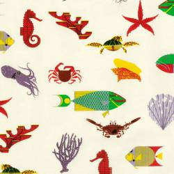 Sea creatures fabric