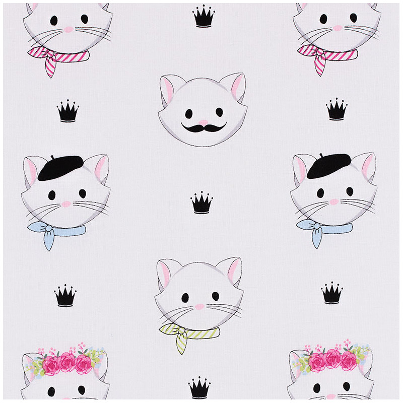 Cat Face Fabric, Chloe and Friends by Melissa