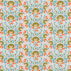 Lazy Days Fabric green by...