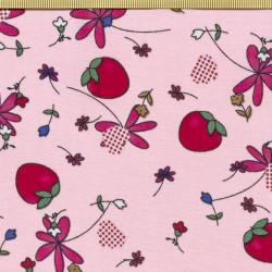 Strawberry fabric pink