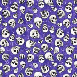 Skull Fabric Spellbound, purple