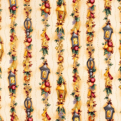 Vintage Christmas Fabric by Clothworks