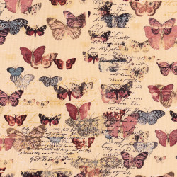 Romantische Vlinder stof Devotion
