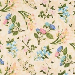 Bloemenstof in hortensia kleuren