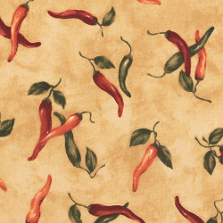 Canvas  fabric with a chili pepper print