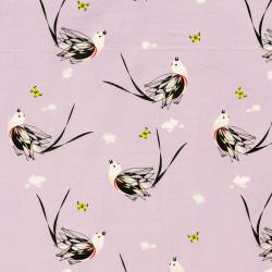 Flycatcher bird fabric