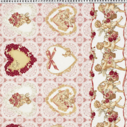 Angel fabric pink