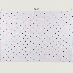 Little strawberry fabric, half width