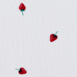 Little strawberry fabric, detail