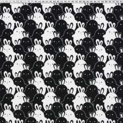 Rabbit jersey black / white