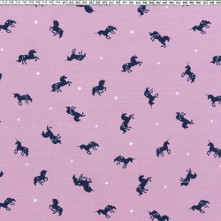 Unicorn star jersey fabric