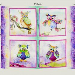 Boho owl fabric