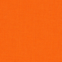 Solid orange cotton fabric