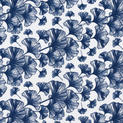 Japanese Ginko leaf fabric...