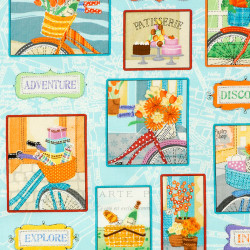 Bicycle baskets fabric