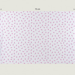 Kleine flamingo's stof, halve breedte