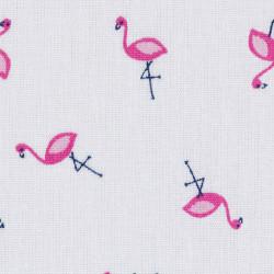 Little flamingos cotton fabric, detail