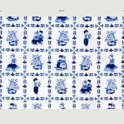 Delft blue tile fabric