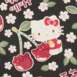 Hello Kitty fabric black