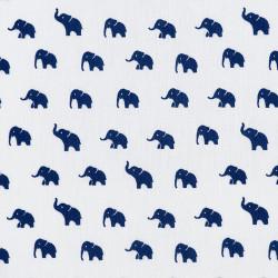 Little blue elephant fabric