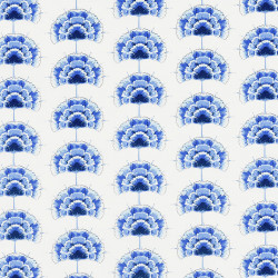 Blue flower fabric Inblue