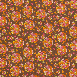 Swirly Flower Power fabric