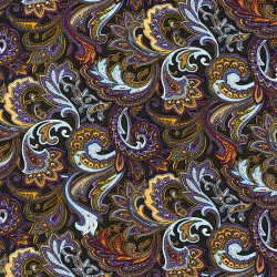 Paisley fabric ornaments brown