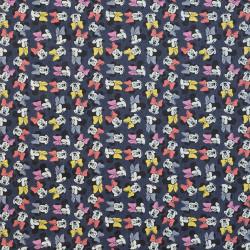 Minnie Mouse denim fabric