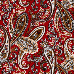 Paisley fabric red with...