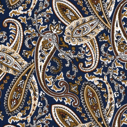 Paisley fabric blue and gold