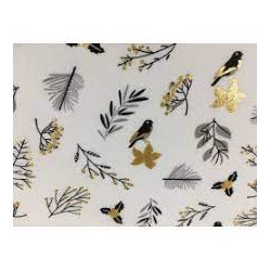 Golden berries fabric with...
