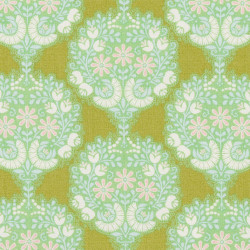 Tilda Flower Tree fabric green