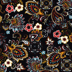 Paisley print fabric Color...